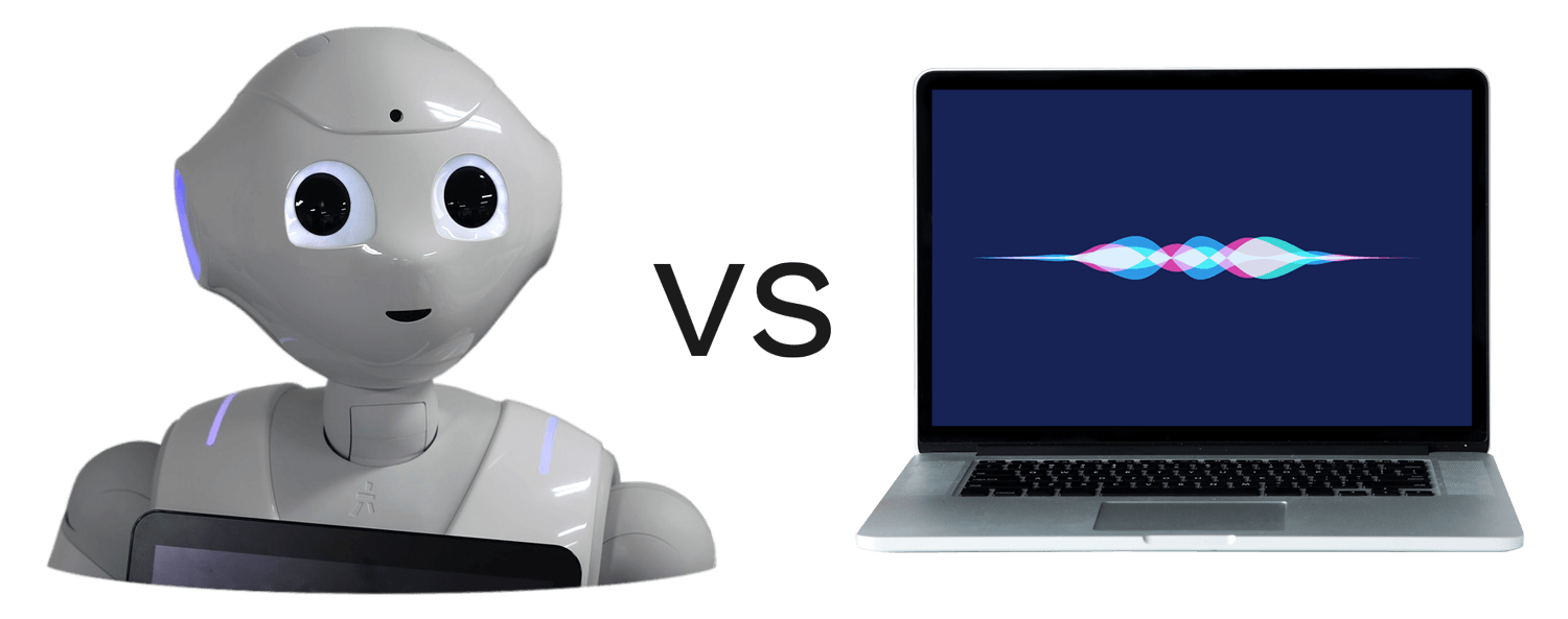 Robot vs virtual assistant