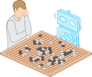 Human vs robot AlphaGo